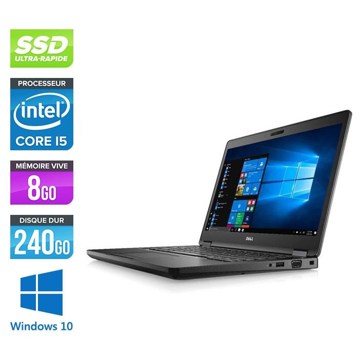 Pc portable - Dell Latitude 5480 reconditionné - i5 7300U - 8Go DDR4 - 240 Go SSD - Windows 10
