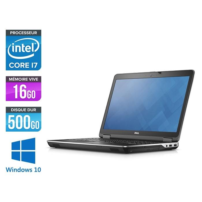 Pc portable - Dell E6540 - 15.6 FHD - i7 - 16Go - 500Go HDD - AMD Radeon HD 8790M - Webcam - Windows 10 Pro