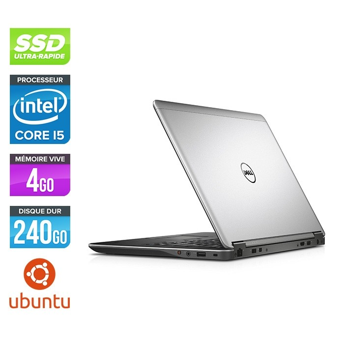 Pc portable reconditionné - Dell Latitude E7240 - Core i5 - 4Go - 240Go SSD - Linux