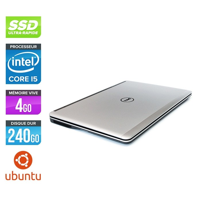 Pc portable reconditionné - Dell Latitude E7240 - Core i5 - 4Go - 240Go SSD - Linux