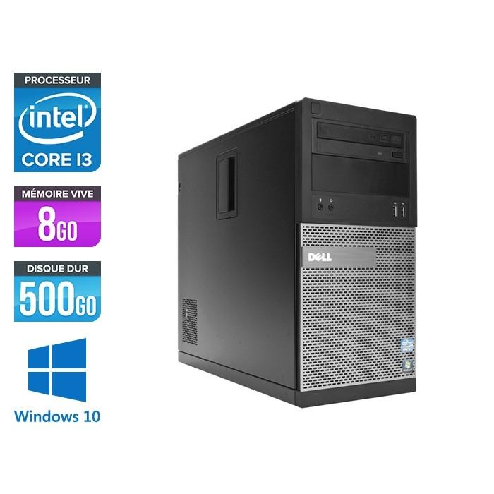 Pc de bureau reconditionné Dell 3010 Tour - i3 - 8Go - 500Go HDD - Windows 10 pro