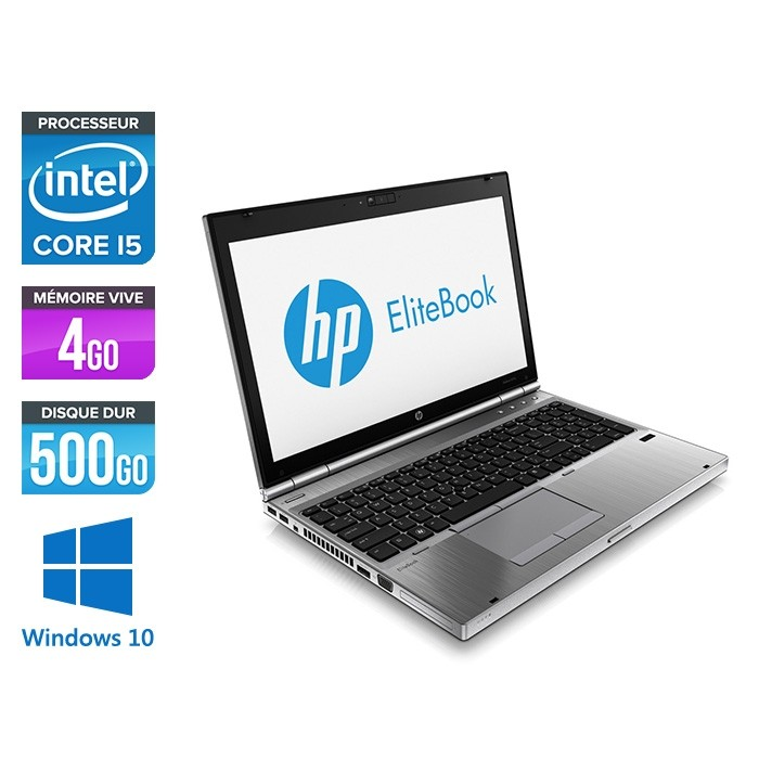 HP EliteBook 8570P - i5 - 4Go - 500Go HDD - Windows 10