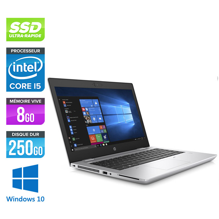 Pc portable - HP ProBook 640 G5 reconditionné - i5 8365U - 8Go - SSD 256Go - 14'' FHD - Windows 10