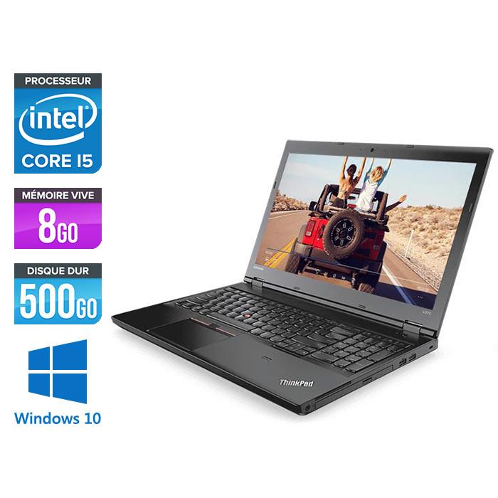 Pc portable reconditionné - Lenovo ThinkPad L570 - i5 7300U - 8Go - 500Go HDD - webcam - Windows 10