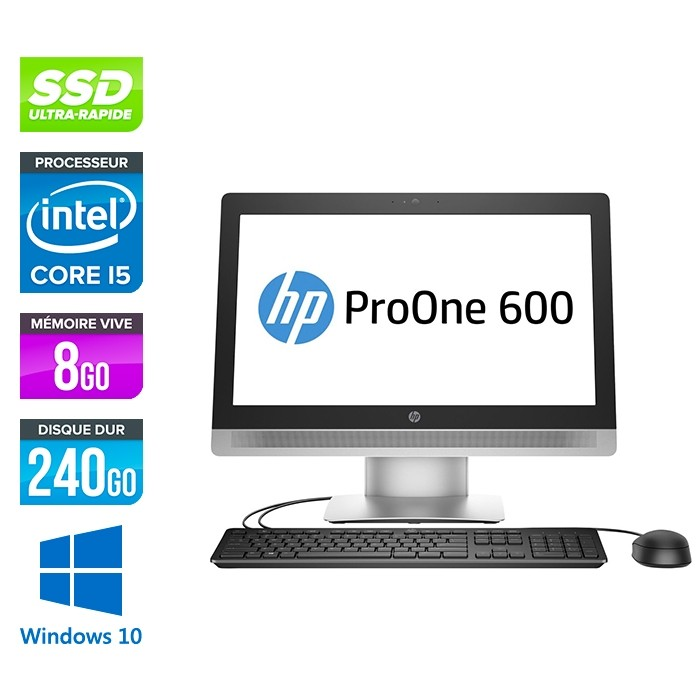 PC Tout-en-un HP ProOne 600 G2 AiO - i5 - 8Go - SSD 240Go - Windows 10