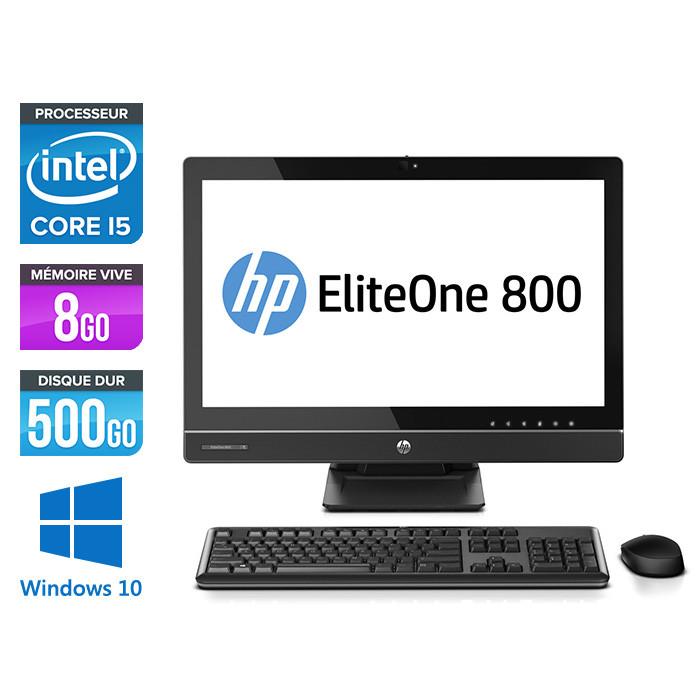 PC Tout-en-un HP ProOne 800 G1 AiO - i5 - 8Go - 500Go HDD- Windows 10