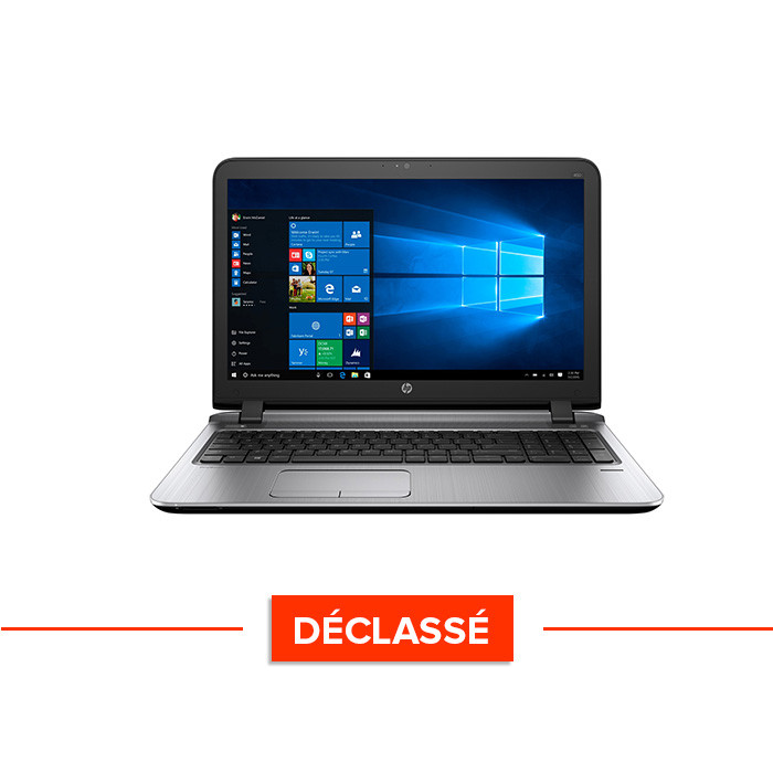 Ordinateur portable pro reconditionné - HP ProBook 450 G3 - i5 - 4Go - 500Go HDD - 15.6'' - Win10 - Déclassé