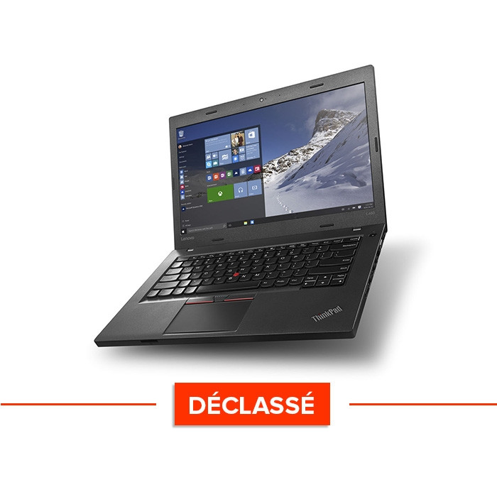 Ordinateur portable reconditionné - Lenovo ThinkPad L560 - i5 - 8Go - 500Go HDD - webcam - Windows 10 - Déclassé