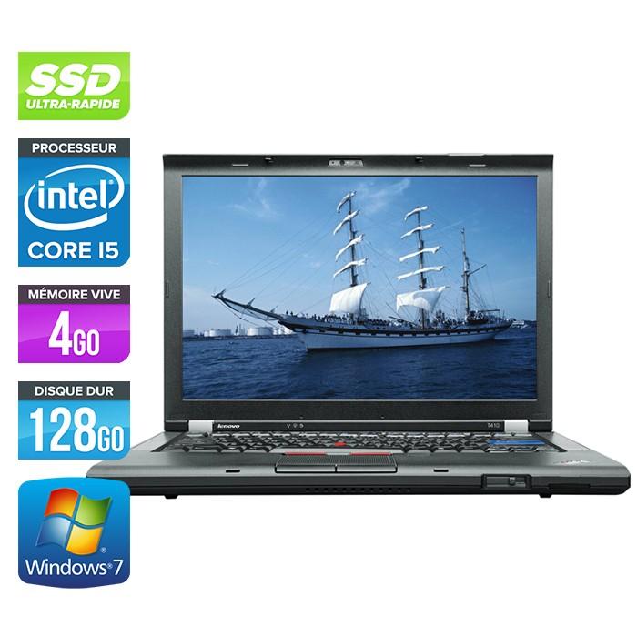 Lenovo ThinkPad T410 - Core i5 - 4Go - 128Go SSD - Webcam