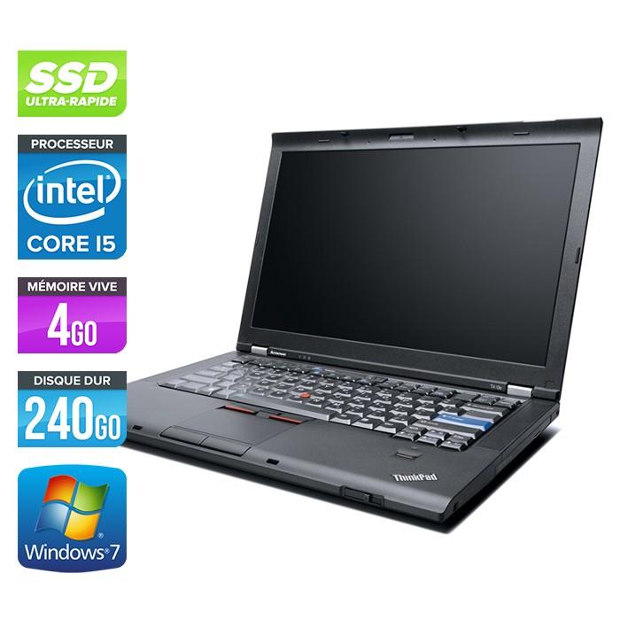 Lenovo ThinkPad T410 - Core i5 - 4Go - 240Go SSD