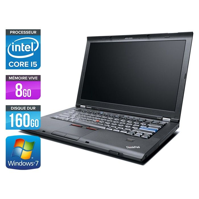 Lenovo ThinkPad T410 - Core i5 - 8Go - 160Go