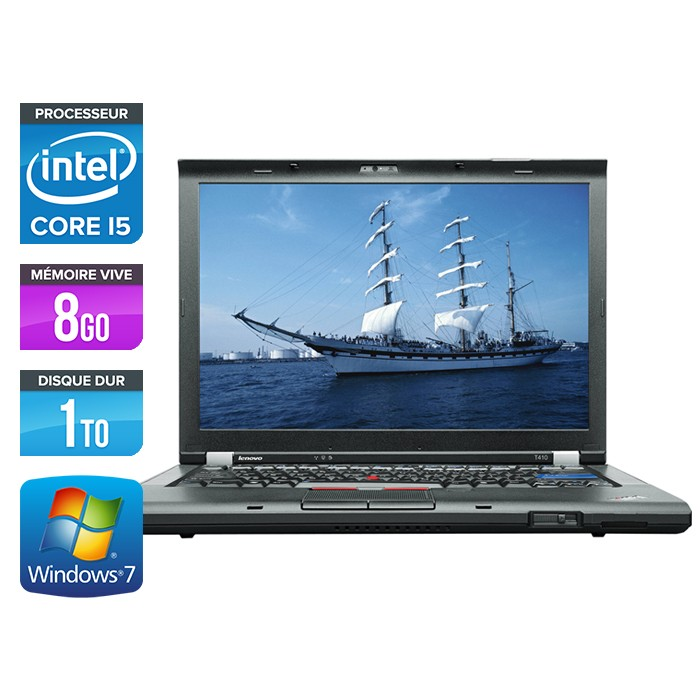 Lenovo ThinkPad T410 - Core i5 - 8Go - 1 To - Webcam