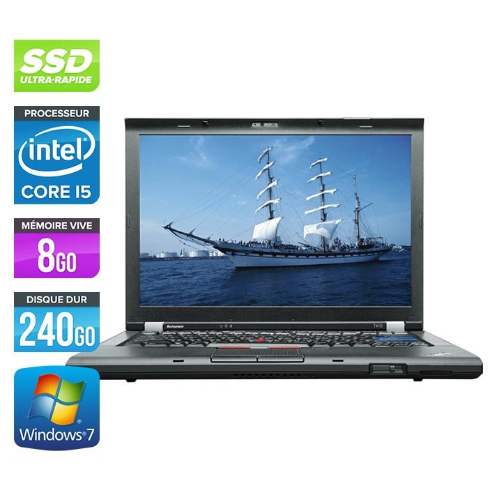 Lenovo ThinkPad T410 - Core i5 - 8Go - 240Go SSD - Webcam
