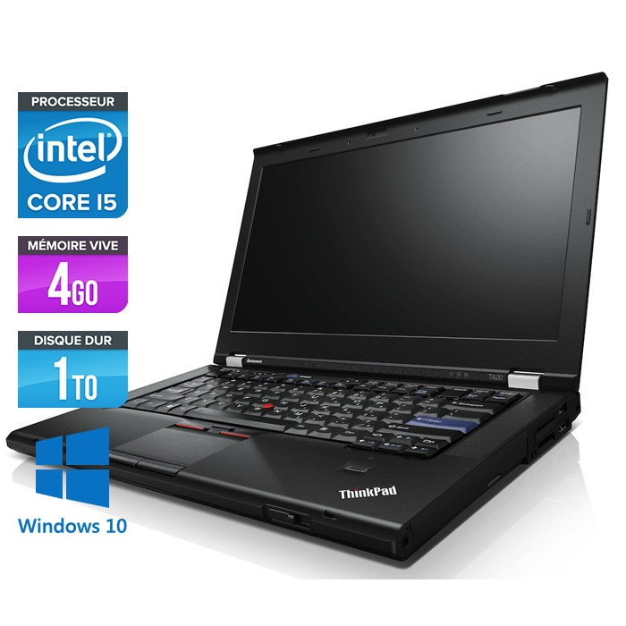 Lenovo ThinkPad T420 - Core i5 - 4Go - 1To - Webcam - Windows 10