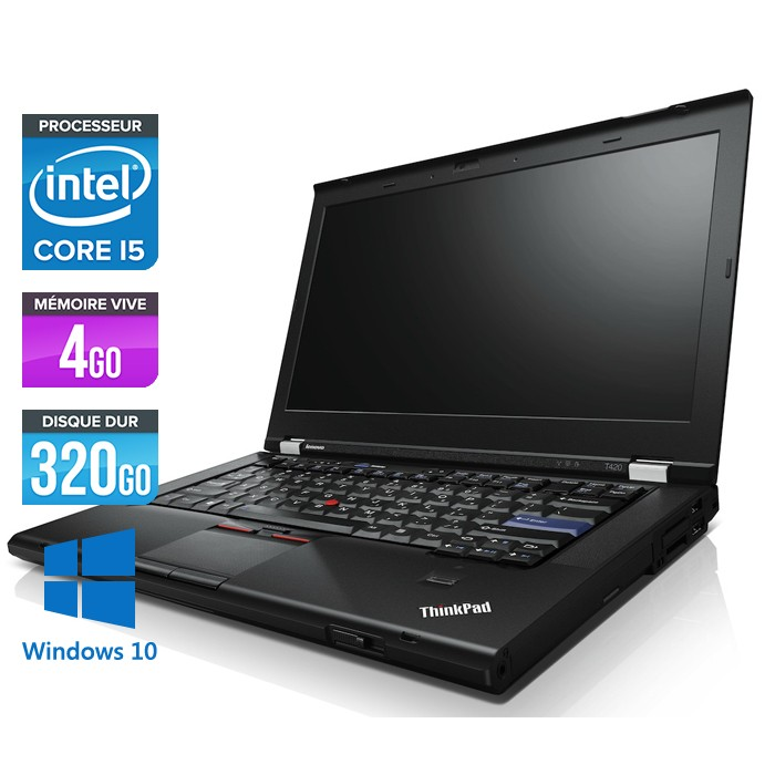 Lenovo ThinkPad T420 - Core i5 - 4Go - 320Go - Webcam - Windows 10