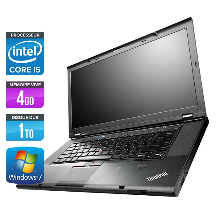 Lenovo ThinkPad T530 - Core i5-3320M - 4Go - 1To