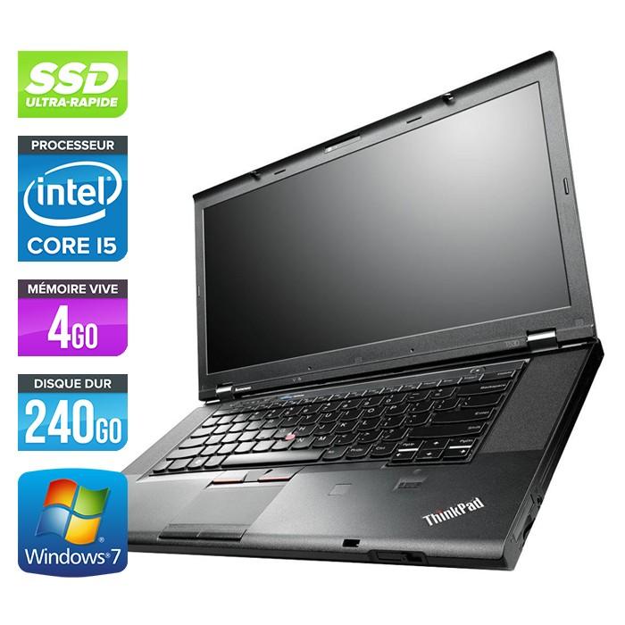 Lenovo ThinkPad T530 - Core i5-3320M - 4Go - 240Go SSD