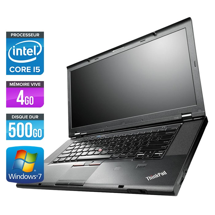 Lenovo ThinkPad T530 - Core i5-3320M - 4Go - 500Go
