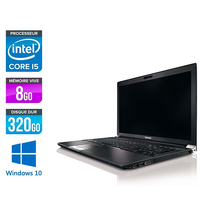 Toshiba Portégé R850 - i5 - 8Go - 320Go HDD - W10