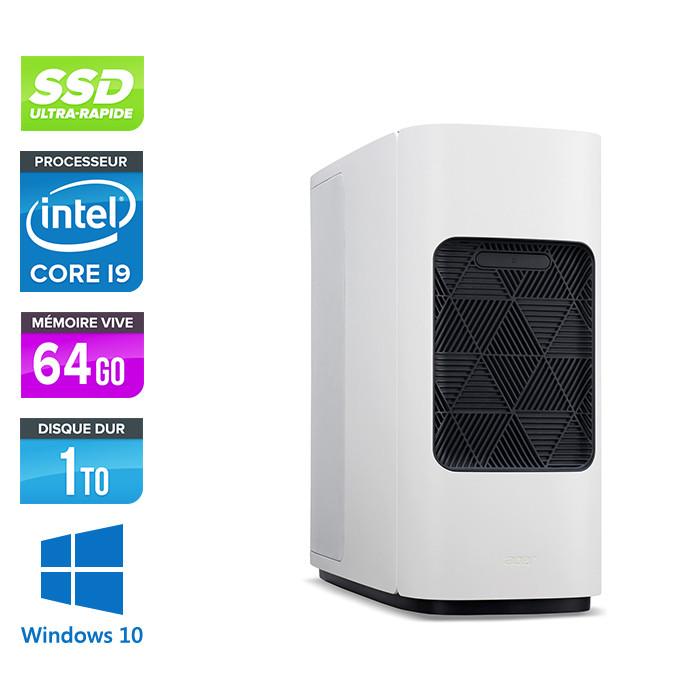 Pc de bureau pro reconditionné constructeur - Acer CONCEPTD 500 - i9-9900K - 64Go DDR4 - SSD 1 To + 4 To HDD - GeForce RTX 4000 - Windows 10