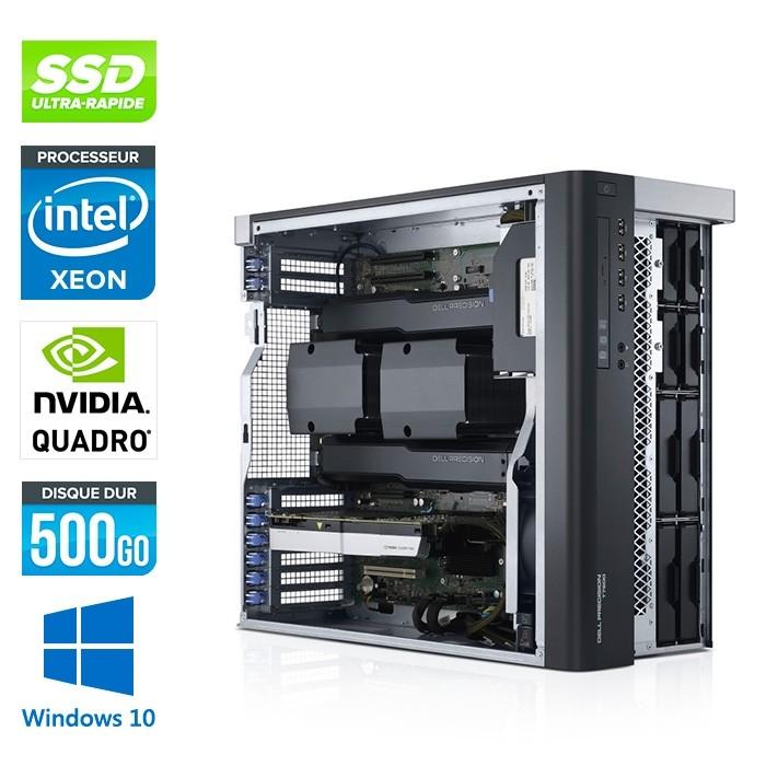 Dell T7810 - Xeon 2650 V3- 64Go - 500Go SSD - Quadro K6000 - W10
