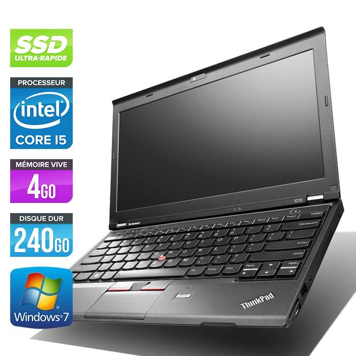 Lenovo ThinkPad X230 - Core i5-3320M - 4Go - 240Go SSD