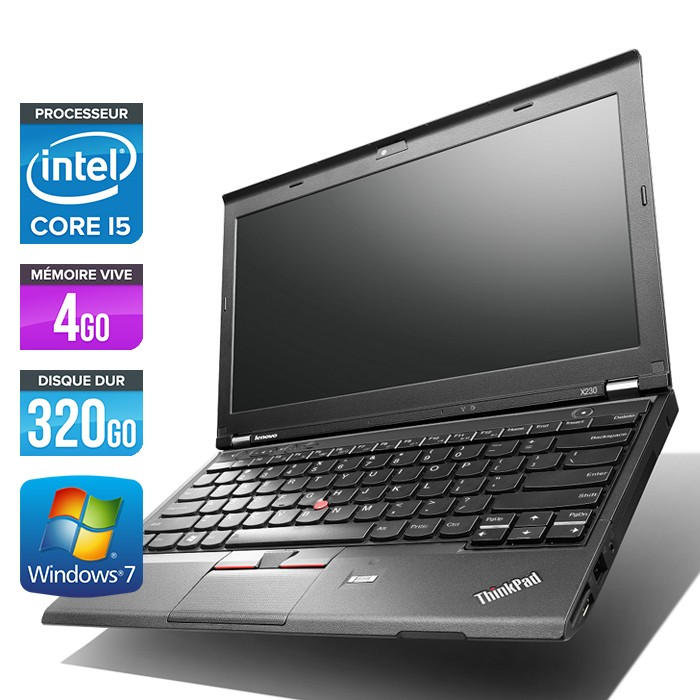 Lenovo ThinkPad X230 - Core i5-3320M - 4Go - 320Go