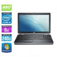 Dell Latitude E6520 - Core i5 - 8Go - 240Go SSD - Webcam
