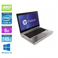 HP EliteBook 8460P - i5 - 8 Go - 240 Go SSD - Windows 10
