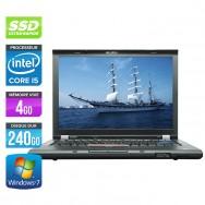 Lenovo ThinkPad T410 - Core i5 - 4Go - 240Go SSD - Webcam