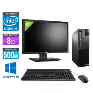 "Lenovo ThinkCentre M93P SFF - Windows 10 + Ecran 22"""