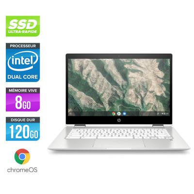 HP ChromeBook x360 14b-ca0008nf - Pentium - 8Go - 128Go eMMC - ChromeOS