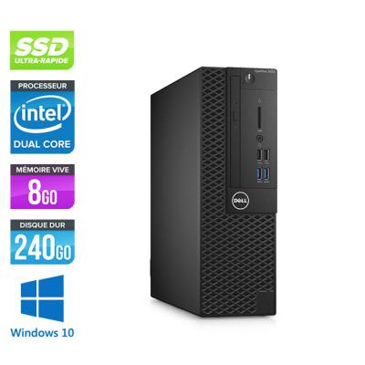 Pc de bureau Dell 3050 SFF - Intel Pentium - 8Go - 240Go SSD - W10