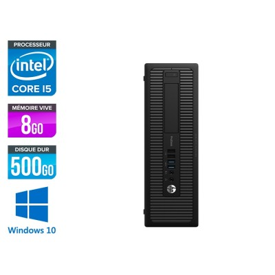 HP ProDesk 600 G2 SFF - i5-6500 - 8Go DDR4 - 500Go HDD - Windows 10
