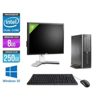 Pack HP 6300 Pro SFF - Pentium - 8Go- 250 Go HDD - Windows 10 + Ecran 19