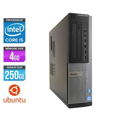 Pc bureau reconditionné - Dell Optiplex 7010 DT - Core i5 - 4Go - 250Go HDD - Ubuntu / Linux