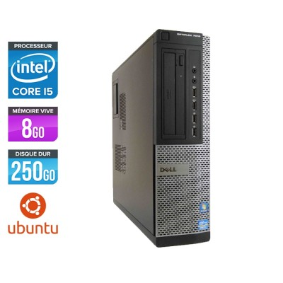 Pc bureau reconditionné - Dell Optiplex 7010 DT - Core i5 - 8Go - 250Go HDD - Ubuntu / Linux
