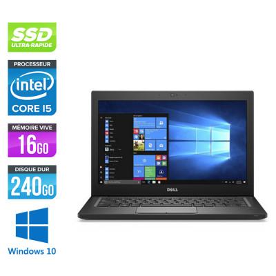 Pc portable - Ultraportable reconditionné - Dell Latitude 7280 - i5 - 16Go - 240Go SSD - Windows 10