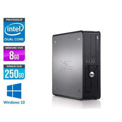 Dell Optiplex 780 SFF - E5300 - 8Go - 250Go - Windows 10