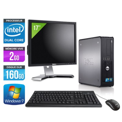 Dell Optiplex 780 + Ecran 17'' - E5300 - 2Go - 160Go