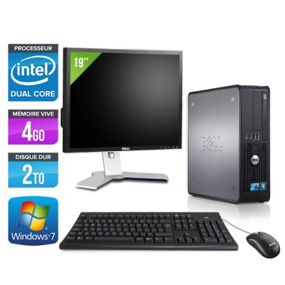 "Dell Optiplex 780 + Ecran 19"" - E5300 - 4Go - 2To"