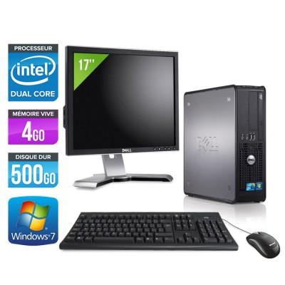 Dell Optiplex 780 SFF + Ecran 17 - E5300 - 4Go - 500Go
