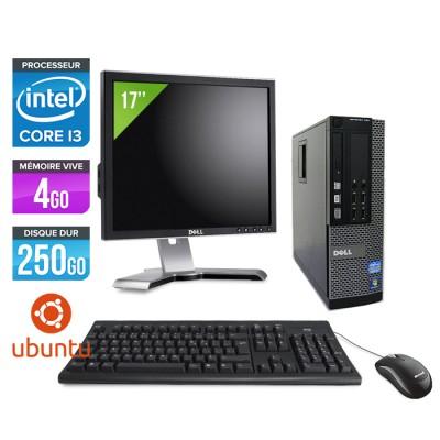 """Dell Optiplex 790 SFF - Core i3 - 4Go - 250Go - Linux + Ecran 17"""""""