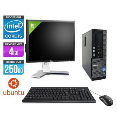 """Dell Optiplex 790 SFF - Core i5 - 4Go - 250Go - Linux -Ecran 19"""""""