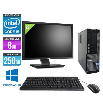 """Dell Optiplex 790 SFF - Core i5 - 8Go - 250 go hdd- windows 10 - Ecran 22"""""""