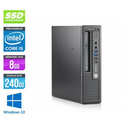 HP EliteDesk 800 G1 SFF - i5 - 8Go - 240Go SSD - Windows 10