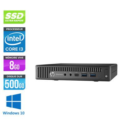 Pc de bureau HP EliteDesk 800 G2 USDT reconditionné - i3 - 8Go DDR4 - 500Go SSD - Windows 10