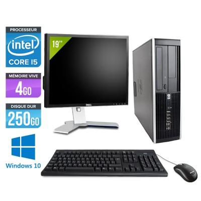 "HP Elite 8200 SFF + Ecran 19"" - Core i5 - 4Go - 250Go -Windows 10"