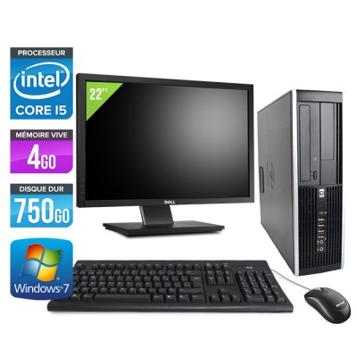 HP Elite 8300 SFF - Core i5 - 4Go - 750Go + Ecran 22""