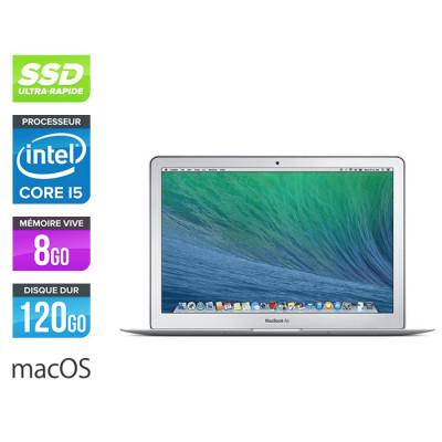 Apple MacBook Air 13.3 - i5 - 8Go - 120Go SSD - 2014 - Clavier QWERTY - MacOs X
